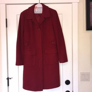 MODA INTERNATIONAL Red Wool Coat